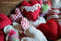 Easy fabric hearts tutorial