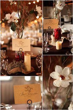 cranberry, burlap, and magnolia winter barn wedding                                                                                                                                                                                 More
