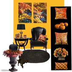 """Autumn Home Accents"" by sgolis on Polyvore"