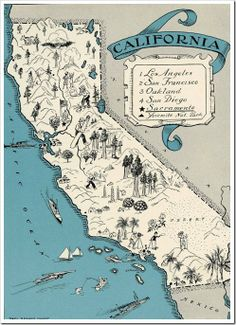 170 Best California Maps images in 2019