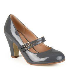 Another great find on #zulily! Gray Wendy Mary Jane Pump #zulilyfinds