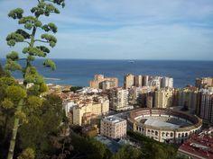 Views from the Gibralfaro mountain over Malaga, Spain
