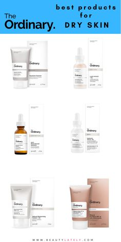 Confused about which The Ordinary products to buy for your dry skin needs? Take a look at this guide, which breaks down serums, moisturizers, and cleansers for your dry skin routine. Serum For Dry Skin, Mask For Dry Skin, Dry Skin On Face, Moisturizer For Dry Skin, Face Skin Care, Oily Skin, The Ordinary Skincare Guide, The Ordinary Products, Skin Care Routine For Teens