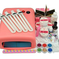 Cocelia 36W Pink Lamp UV Gel Acrylic Powder Nail Art Set Tool Manicure Decoration -- Read more  at the image link.