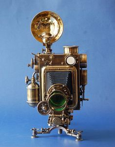 Beautiful camera with steampunk written all over it