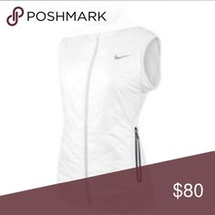 Nike white and black mapping golf sleeveless vest Nike white and black mapping golf sleeveless vest- black zipper pockets- very lightweight polyester and spandex vest. Nike Jackets & Coats Vests