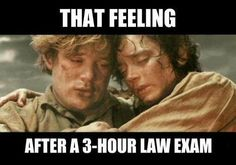 law exam feeling