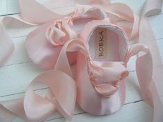 Baby Girl Ballet Shoes, Bobka Shoes by BobkaBaby. $45.00, via Etsy. I think I might need these too!