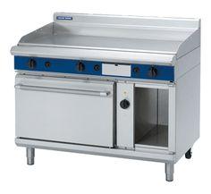 Blue Seal Evolution Series GPE58 - 1200mm Natural Gas Griddle Electric Convection Oven Range