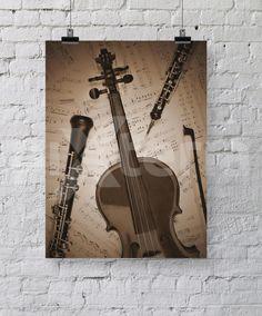 Plakat - Instrumenty muzyczne