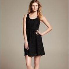 Banana Republic Black Lace Sleeveless Dress