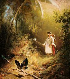 Carl Spitzweg Der Schmetterlingsfänger