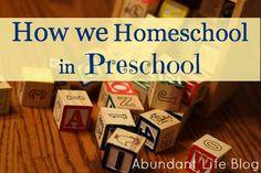 Homeschooling the Preschooler