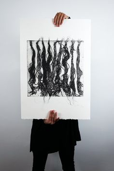 Collagraph Printing - Body Parts for Sale - 07 Hair Hair Extensions Cost, Collagraph, Linoprint, Free Prints, Limited Edition Prints, Handmade Art, Art Blog, Printmaking, Body Parts