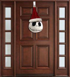Jack Skellington Door Hanger  Christmas  Decor by INSPIREMEtals, $85.00