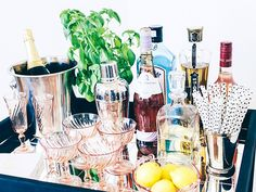 How to DIY a Bar Cart for Just $60!: Party pro Kelly Lee brings a gorgeous and easy DIY project—along with five must-haves for your bar. via @mydomaine