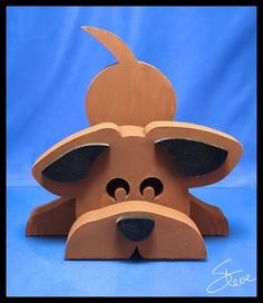 DIY 3-D Doggie Scroll Saw Pattern by Steve Good. #scrollsawpatternsandprojects…