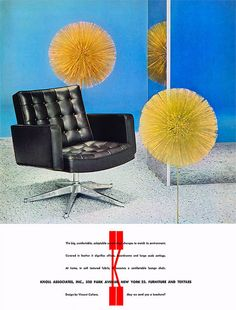 Should have sprayed the shag for dandelions. (Funny bad retro chair ads)