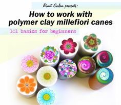 Ronit Golan - Polymer Clay Joy - Inspire to Create: How to work with polymer clay millefiori canes - 101 basics for beginners-tutorial