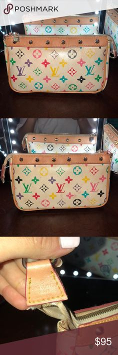 Vintage Louis Vuitton🍭 Vintage Louis Vuitton wallet. I believe this is from the late 80s or early 90s. It was my moms and then mine. I've used it as make up bag. Super cute. Leather is still in good condition. 🍭✨🍭✨ Louis Vuitton Bags Cosmetic Bags & Cases
