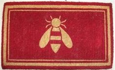 Bee Coir Doormat by Kiss That Frog. $36.00. The deep red background behind the bleached bumble bee silhouette design makes a stand out doormat for any entryway. Coco mats are easy-care coconut fiber printed with pigment dyes. They are exceptional at trapping dirt and moisture right at the door.Coir mats are easy to maintain - simply shake or brush clean. These green doormats are made in the southwest coast of india where the coconut are soaked in lagoons and cracked by hand to c...