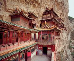 The dramatic Hanging Monastery, a five-hour drive from Pingyao, was founded about 1,400 years ago; it was most recently restored in the Qing Dynasty.