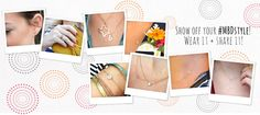 Initial necklaces and state pride | Maya Brenner Designs | Los Angeles, California