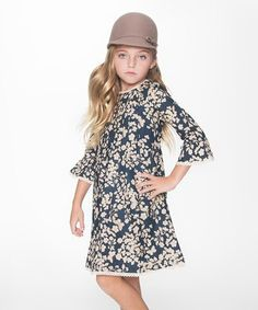 Loving this Blue & Ivory Floral Shift Dress - Toddler & Girls on #zulily! #zulilyfinds