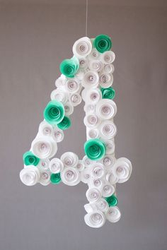 Spiral Flower Number DIY
