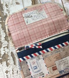 Correspondence Wallet using Tim Holtz fabric
