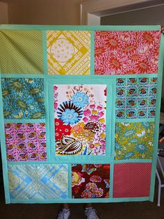 another easy quilt. for those odds & ends