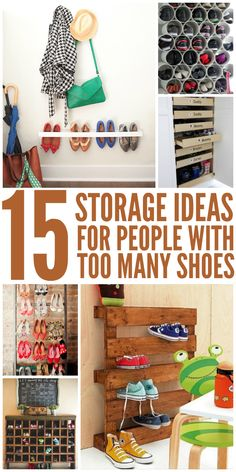 15 Storage Ideas for People With Too Many Shoes