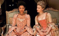 "Gugu Mbatha-Raw as Dido Elizabeth Belle and Sarah Gadon as Elizabeth Murray in ""Belle. 10 Film, Film Serie, Billie Jean King, Belle Movie, Movie Tv, Movies To Watch, Good Movies, Sarah Gadon, Chick Flicks"
