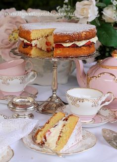 Victoria Sponge Cake Recipe...I am certainly making this very soon...mary A must for Afternoon Tea!!!