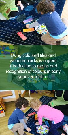 Children work together at Explorers Abbotsford, with our talented educators, to learn how to recognise similar colours, and count tiles and blocks!