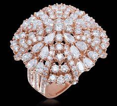 All Diamond Ring All diamond ring set in 18k rose gold.