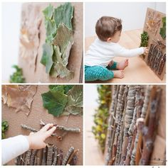 Actividades para bebés: tablero sensorial de otoño   Actividades ...
