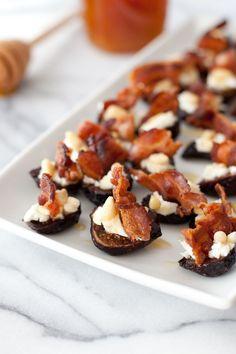 Goat cheese stuffed figs with pancetta - Snixy Kitchen