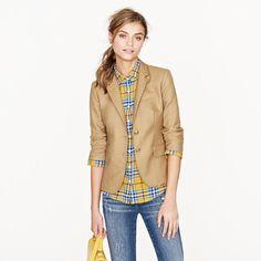 blazer w/plaid and jeans