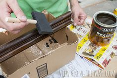 How to refinish and update wood stair railings