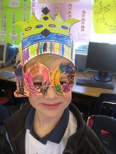 When I am 100 I will look like this: and the kids will look like this:  100th day wouldn't be complete without crowns and glasses. Cli...