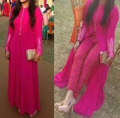 Stylish Cotton Slit Kurti with pant Fashion Designer, Indian Designer Wear, Designer Dresses, Pakistani Dresses, Indian Dresses, Indian Outfits, Kurta Designs, Indian Attire, Indian Ethnic Wear