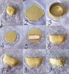 empanadillas de jamón cocido y queso paso a paso