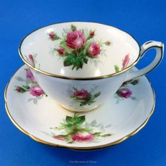 Grandmother's Rose Hammersley Tea Cup and Saucer Set | Antiques, Decorative Arts, Ceramics & Porcelain | eBay!