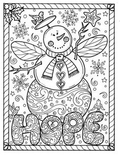 683 Best Christmas To Color Images In 2019 Coloring Pages