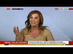 Andrea Williams debating Israel Folau sacking on Sky News Israel Folau, Sky News, Politics, Youtube, Youtubers, Youtube Movies