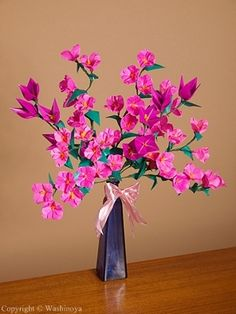 Origami Flower ARRANGEMENT IDEAS FOR FINISHED FLOWERS