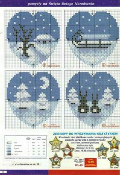 19 Ideas Embroidery Heart Pattern Design For 2019 Cross Stitch Christmas Ornaments, Xmas Cross Stitch, Cross Stitch Heart, Christmas Embroidery, Christmas Cross, Cross Stitching, Christmas Patterns, Embroidery Hearts, Cross Stitch Embroidery