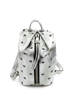 da6d182015 Aimee Kestenberg - Borse - Accessori - Zaino in pelle con zip silver di  chiusura.