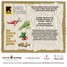 IRC Hosts New Roots Pop-Up with Chef David Burke @International Rescue Committee